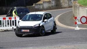 Reifenversuche von Goodyear/Dunlop mit Ford Fiesta Erlkönig